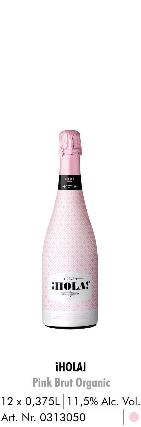 hola pink brut organic 0,375l