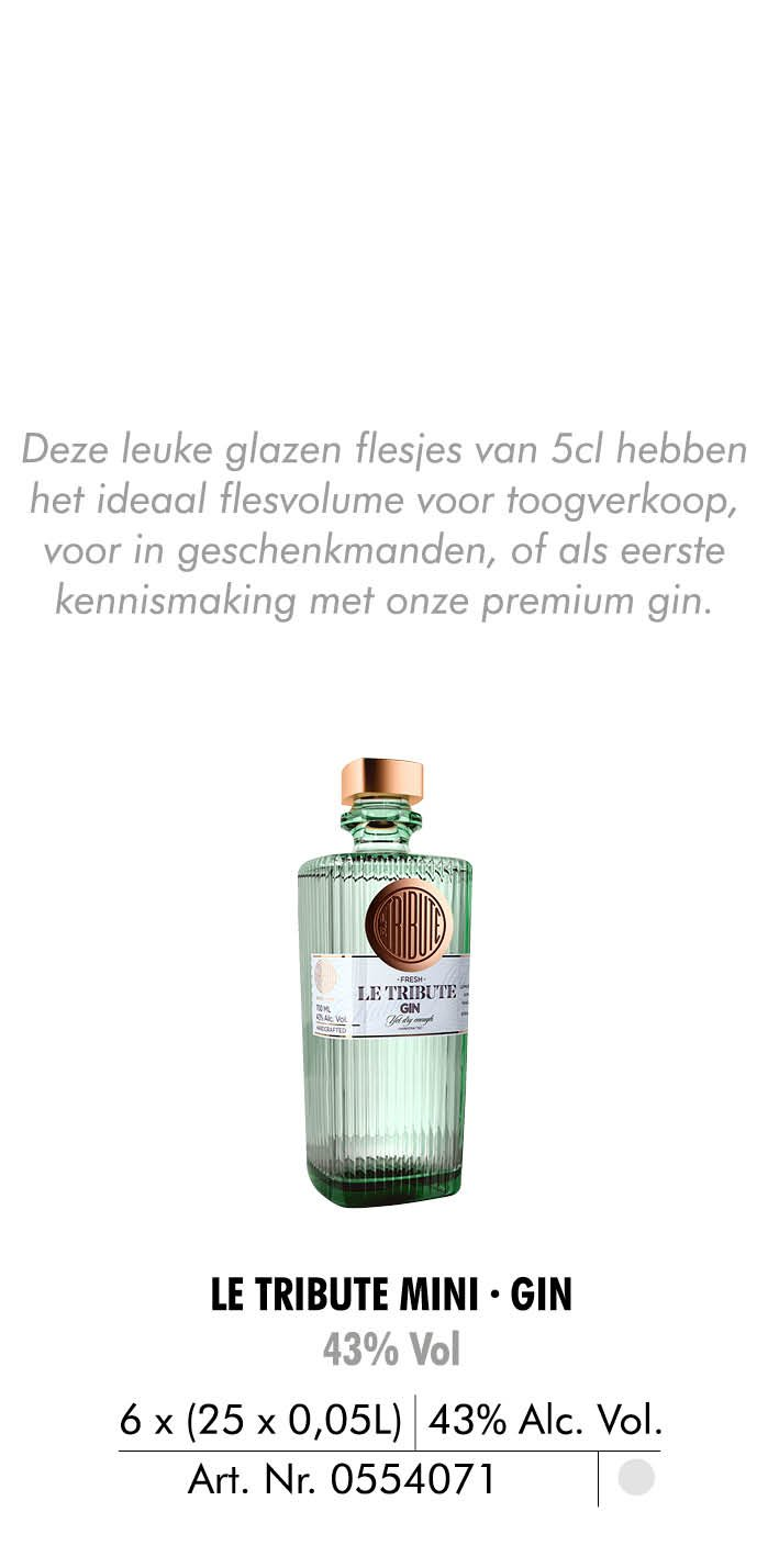 le tribute mini gin