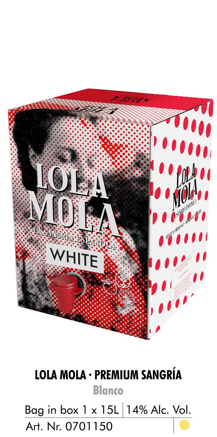 lola mola bag in box 15l blanco