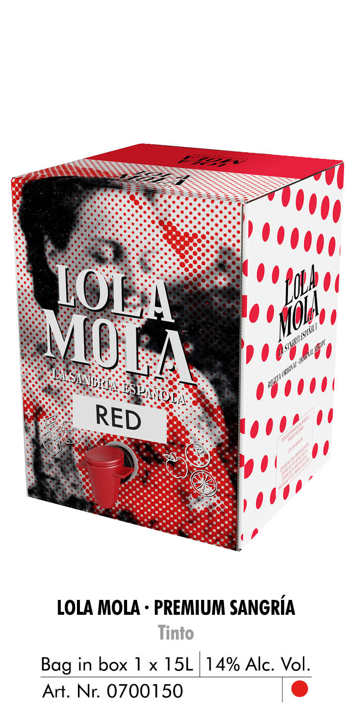 lola mola bag in box 15l tinto