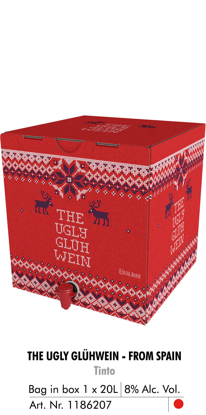the ugly gluhwein tinto bag in box 20l